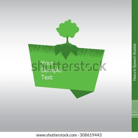 Nature Speech Bubble Illustration. - stock vector
