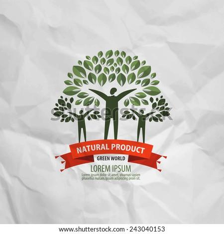 nature vector logo design template. ecology or bio icon. - stock vector