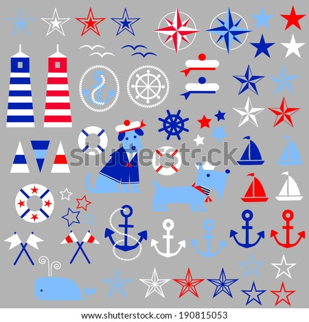 Nautical Clip Art - stock vector