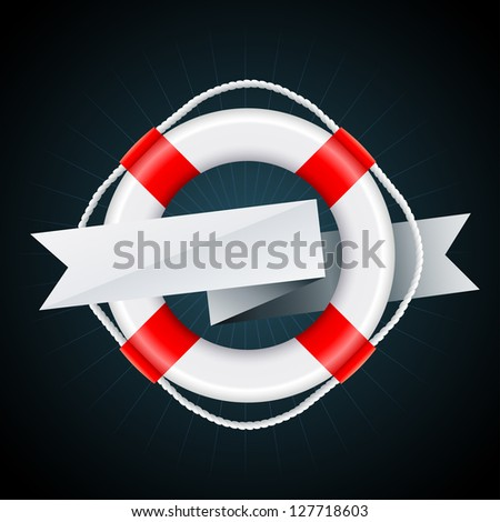 Nautical Emblem. Vector Eps8 - No transparency. - stock vector