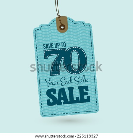 Nautical End of year sale tag - stock vector