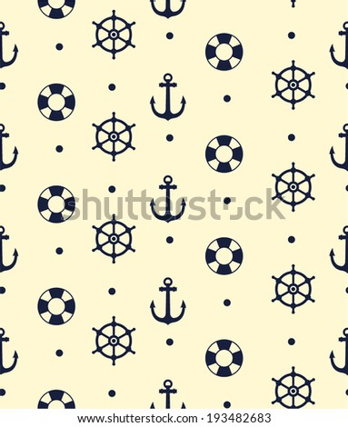 NAUTICAL PATTERN - stock vector