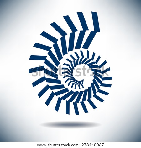 Nautilus Image with a Simple Blue Background - stock vector