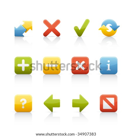 Navigation Buttons Set of icons on white background in Adobe Illustrator EPS 8 format for multiple applications. - stock vector