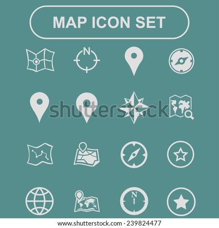 navigation icons - stock vector