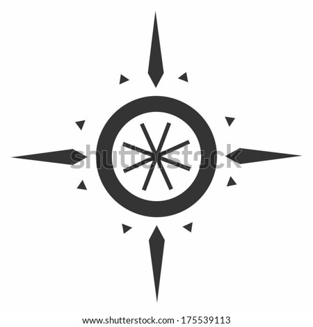 Navigation wind rose Branding Identity Corporate vector logo design template Isolated on a white background - stock vector