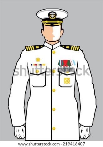Navy Officer - stock vector