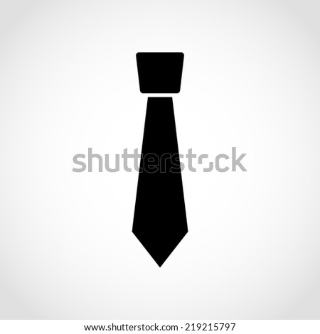 Necktie Icon Isolated on White Background - stock vector