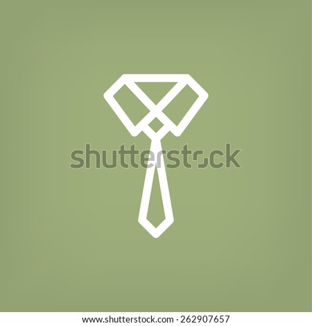 Necktie icon. vector design - stock vector