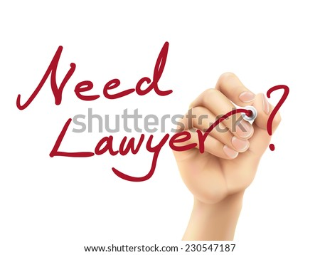 need lawyer words written by hand on a transparent board - stock vector