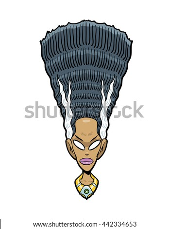 Nefertiti, Queen of the nile and wife of Akhenaten.  - stock vector