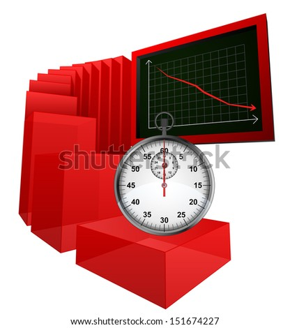 negative results caused wasting of time vector illustration - stock vector