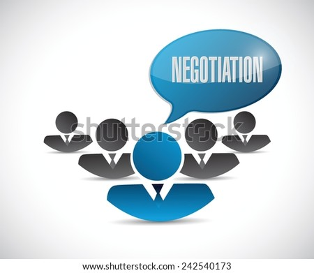 negotiation people network illustration design over a white background - stock vector