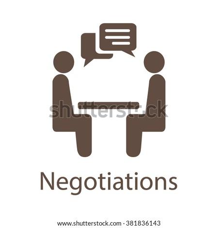 Negotiation Vector Icon. Negotiation Icon JPEG. Negotiation Icon EPS. Negotiation Vector Concept. Negotiations Vector Icon. - stock vector