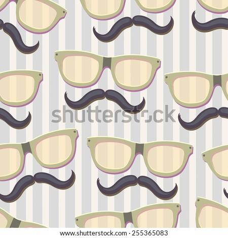 Nerd glasses.Seamless vector Illustration - stock vector
