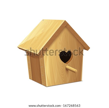 Nesting Box Heart - stock vector