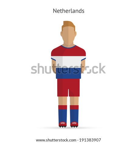 Netherlands football player. Soccer uniform. Vector illustration. - stock vector