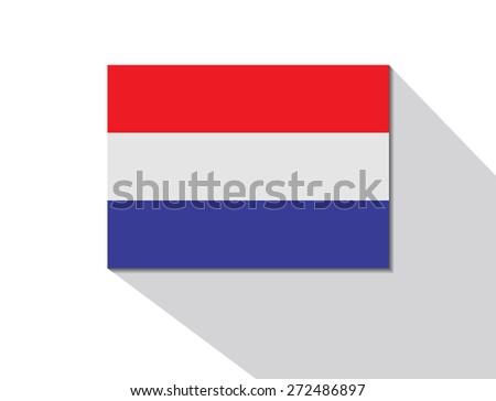 netherlands long shadow flag - stock vector