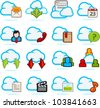 Network Communication Icon set C - stock vector