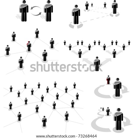 Network concept. Connect people. Business team illustration. - stock vector