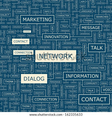 NETWORK. Concept illustration. Graphic tag collection. Word cloud collage. Vector illustration. - stock vector