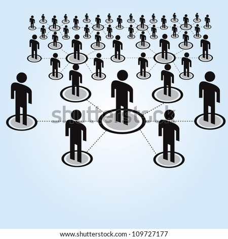 network, connecting people - stock vector