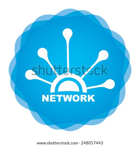 Network icon on abstract background for your design - stock vector