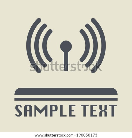Network icon or sign, vector illustration - stock vector