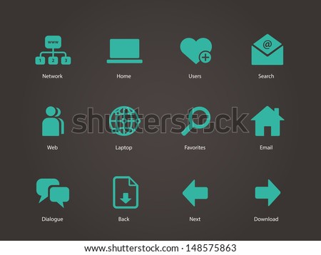 Network icons. Vector illustration. - stock vector