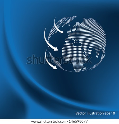 Network is the abstract background. Vector illustration. - stock vector