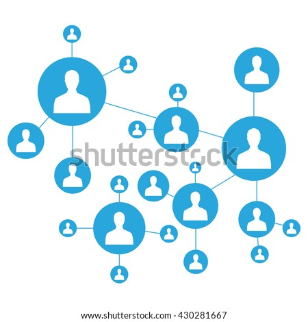 Network vector illustration. Connecting people. Social media marketing. Network icon - stock vector