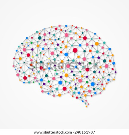 Neural networks - stock vector