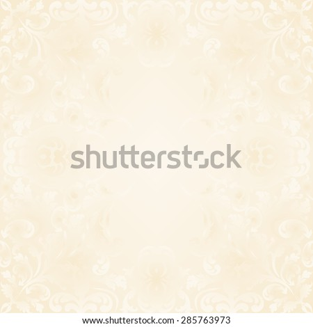 neutral background with vintage ornaments - stock vector