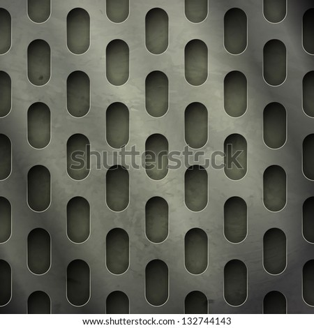 new abstract textured background with perforated metal grate can use like industrial wallpaper - stock vector