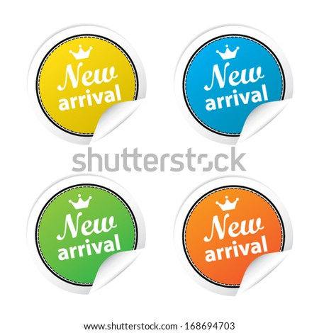New arrival labels. Vector - stock vector