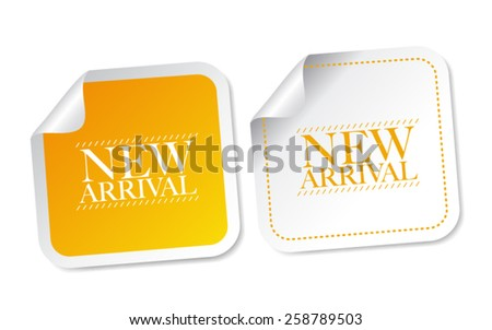 New arrival stickers - stock vector
