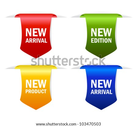 New arrival vector ribbons, eps10 illustration - stock vector