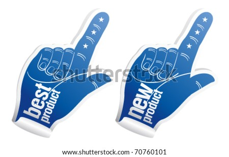 New best product vector stickers. - stock vector