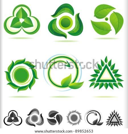 New Bio Green ICONs - stock vector