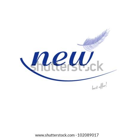 new blue! - stock vector