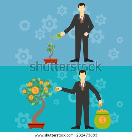 New business model. New business project start up. - stock vector