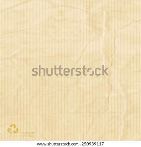 New card board paper box be crumpled vector design - stock vector