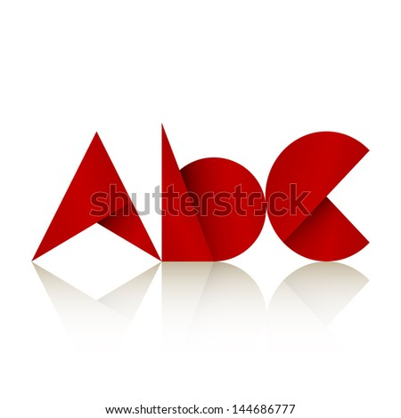 new font style icon of letters can use like cute label design - stock vector