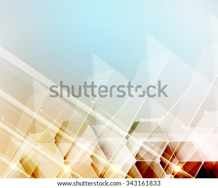 New future technology concept abstract background for business solution - stock vector