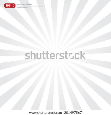 New gray rising sun or sun ray,sun burst vector design - stock vector