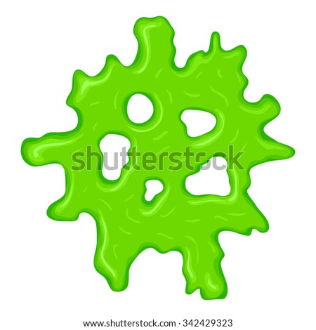 New green slime sign isolated on a white background - stock vector