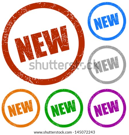 New grunge vector labels on a white background - stock vector