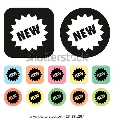 New icon. New Collection icon. Shopping icon. vector - stock vector