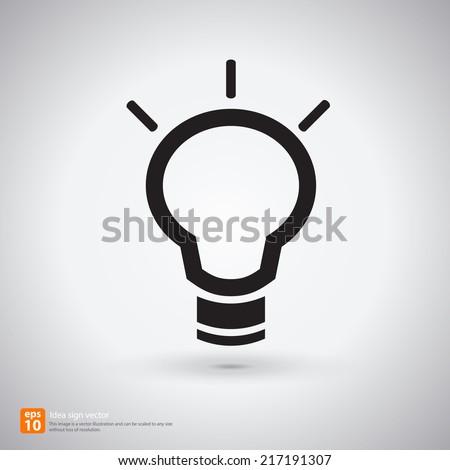 New idea sign with shadow vector icon design - stock vector