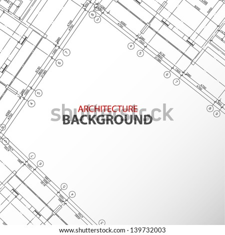 New interesting architectural background in unique style. Vector illustration - stock vector